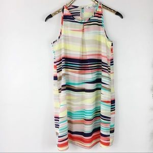 Speechless Bright Colorful Stripe Shift Dress S